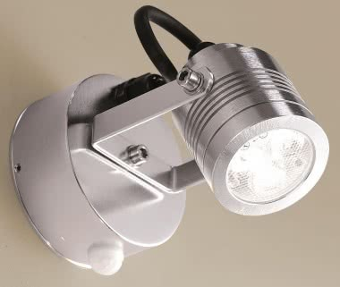 Gnosjo LED-Strahler Alu poliert