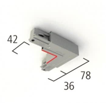 LTS 3PH Eckverbinder EU27 silber 632809