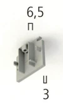 LTS 3PH Endkappe EU35 silber